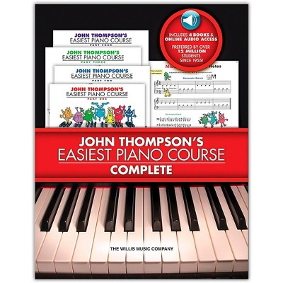 Willis Music John Thompson's Easiest Piano Course Complete boxed Set (Books 1-4 With Online Audio)