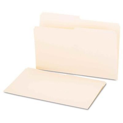 Universal File Folders 1/2 Cut, One-Ply Top Tab, Legal, 100 ct - Manila