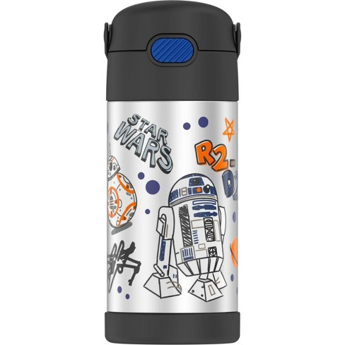 Thermos Star Wars 12oz FUNtainer Water Bottle with Bail Handle - Black - image 1 of 4