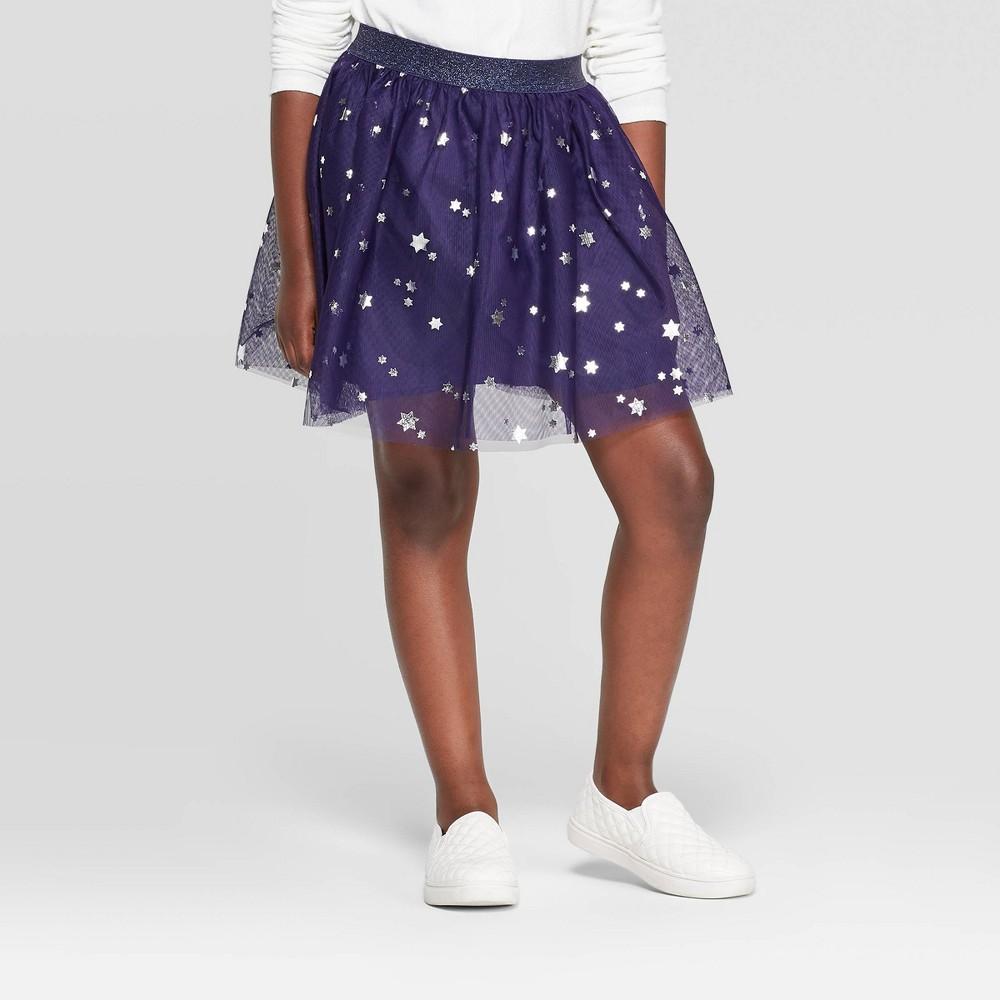 Image of Girls' Hanukkah Tutu Skirt - Cat & Jack Navy L, Girl's, Size: Large, Purple