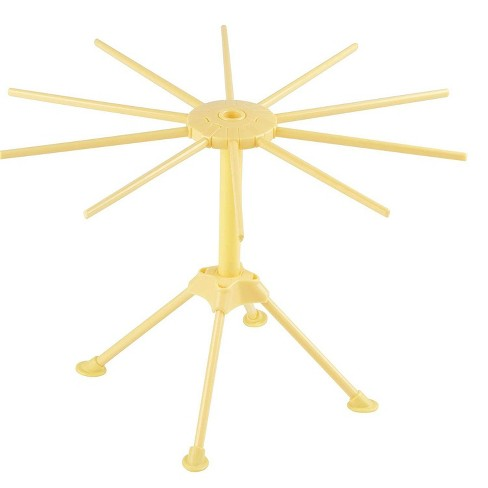"""Pasta Drying Rack - Collapsible 10-Bar Noodle Drying Rack, Easy Assembly Pasta-Making Accessory Kitchen Tool, Anti-Slip Hanging Arms, Yellow, 12"""" Tall - image 1 of 3"""