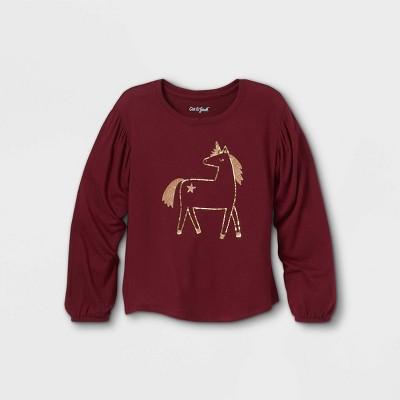 Girls' Printed Cozy Long Sleeve T-Shirt - Cat & Jack™