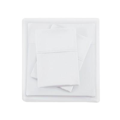 Queen 1500 Thread Count Cotton Rich Sheet Set White