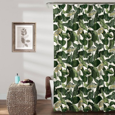 Tropical Paradise Shower Curtain Green - Lush Décor