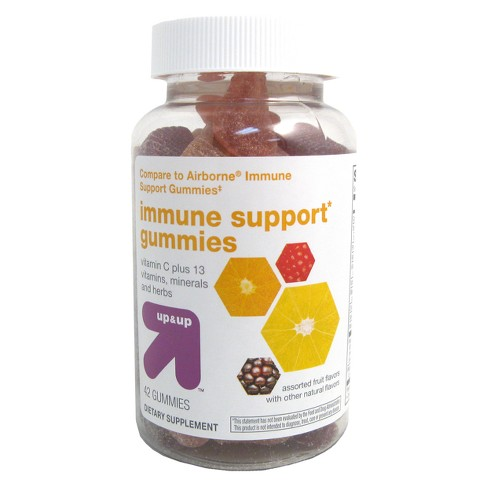 Immunity Support Dietary Supplement Gummy - Assorted Fruit - 42ct - Up&Up™ - image 1 of 1