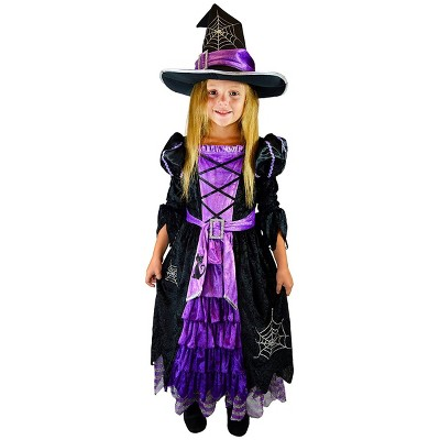 Kids' Purple Witch Deluxe Halloween Costume Set M