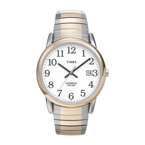 Men s Timex Easy Reader® Expansion Band Watch - Two Tone T2H311JT ... b6a3ad34979