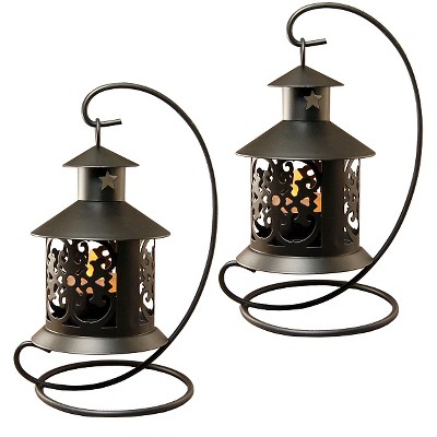 2pc Table Top Lanterns Warm Black - Lumabase®