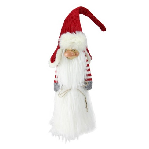 "Northlight 24"" Traditional Christmas Slim Santa Gnome with White Fur Suit and Red Hat - image 1 of 5"