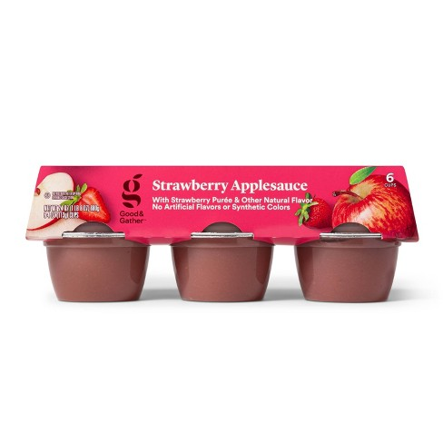 Strawberry Applesauce Cups - 6ct - Good & Gather™ - image 1 of 3