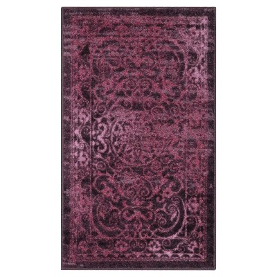 "2'6""X3'10"" Scroll Tufted Accent Rug Purple - Maples"
