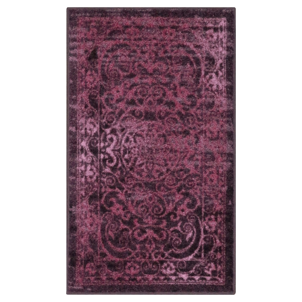 "Image of ""1'8""""X2'10"""" Scroll Tufted Accent Rug Purple - Maples, Size: 1'8""""X2'10"""""""