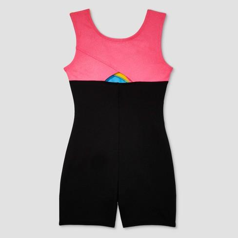 abf8d16df9bf Freestyle By Danskin Girls  Gymnastics Biketard - Black Yellow 2T ...