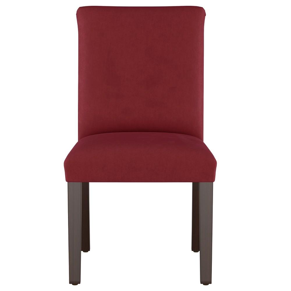 Luisa Pleated Dining Chair Dark Berry Velvet - Cloth & Co.