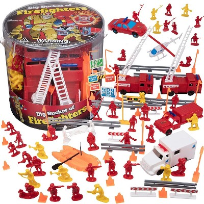 Hingfat Fireman Action Figure Toy Playset, 100 Pieces