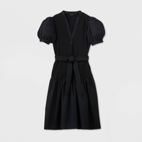Women's Puff Short Sleeve Woven Dress - Who What Wear™ - image 1 of 3