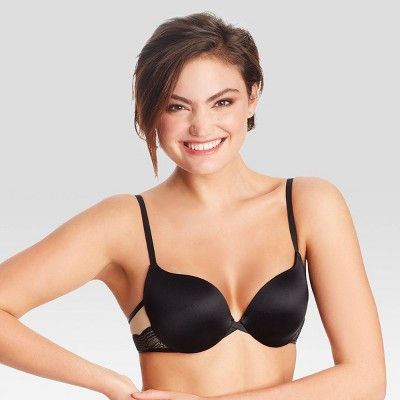 Maidenform Women's Love the Lift Push-Up & In Satin Demi Bra DM9900