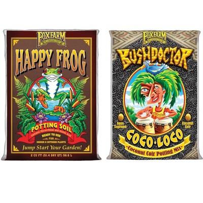 FoxFarm Happy Frog Potting Soil Bag and Bush Doctor Coco Loco Soil Bag Bundle