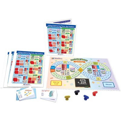 NewPath Learning Adding and Subtracting Three-Digit Numbers Learning Center Game, Grade 3 to 5