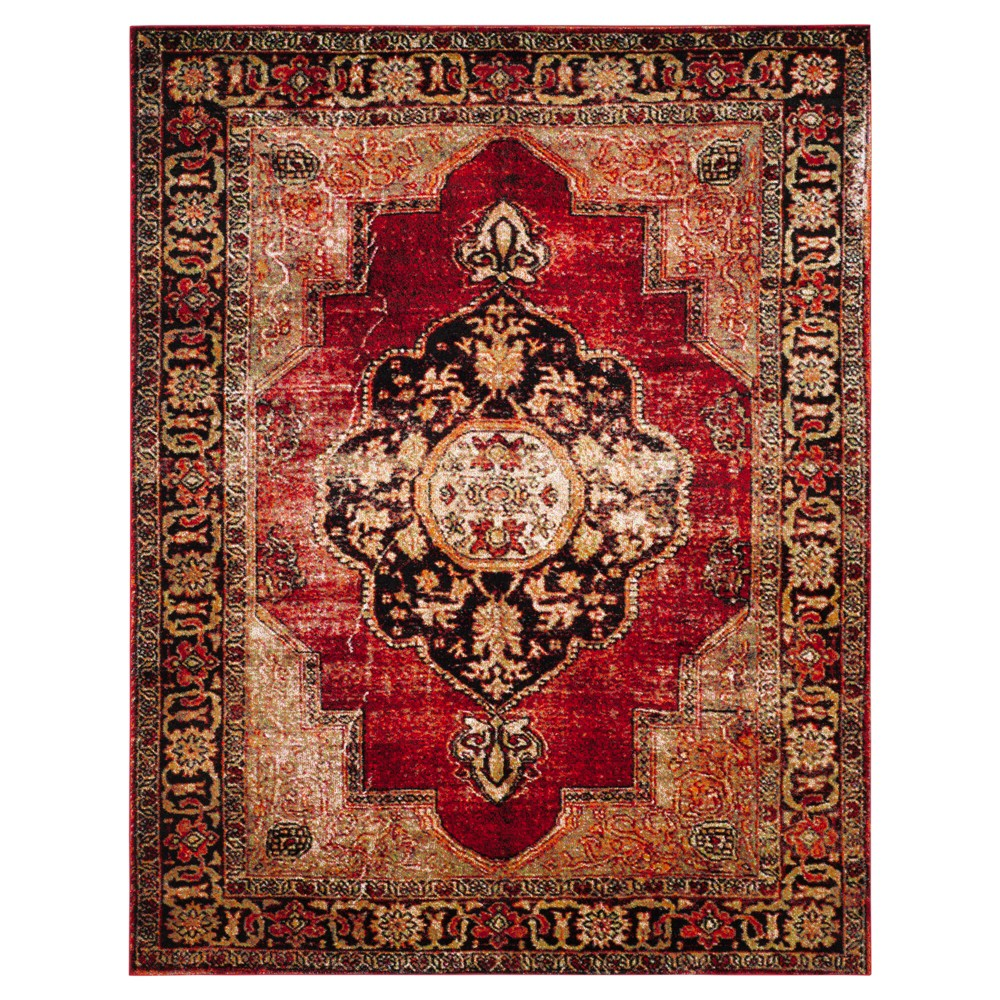 Red/Multi Abstract Loomed Area Rug - (8'x10') - Safavieh