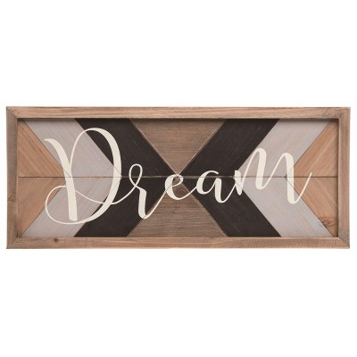 Transpac Wood 19 in. Multicolor Spring Dream Framed Rustic Pattern Wall Decor