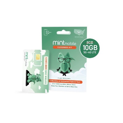 Mint Mobile 3 Month $20/mo. (10GB) SIM Kit
