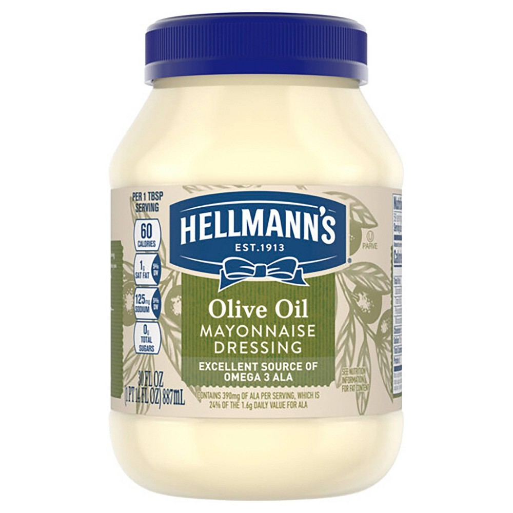 Hellmanns Mayonnaise Dressing with Olive Oil 30oz Discounts