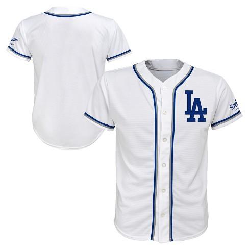 wholesale dealer cb769 1adf4 Los Angeles Dodgers Boys' White Team Jersey - M