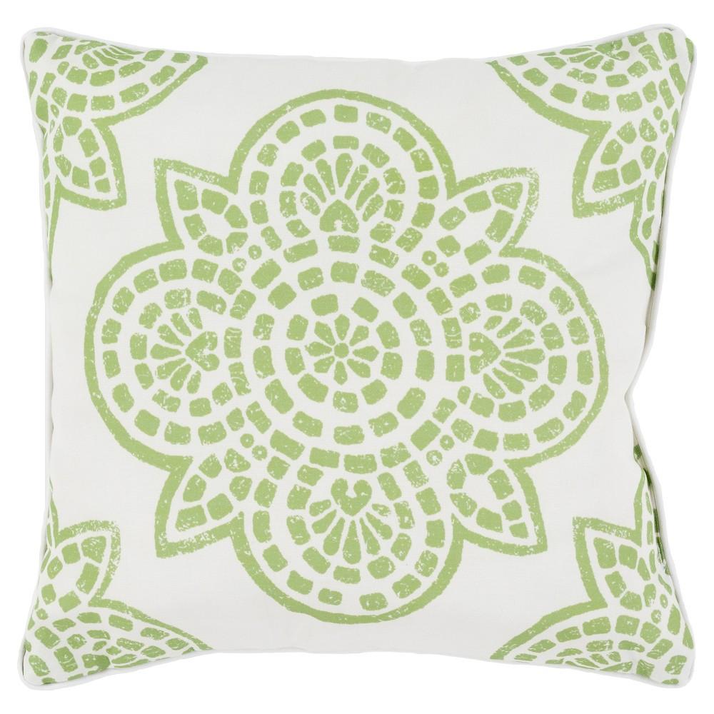 Lime (Green) Arcadenia Throw Pillow 16