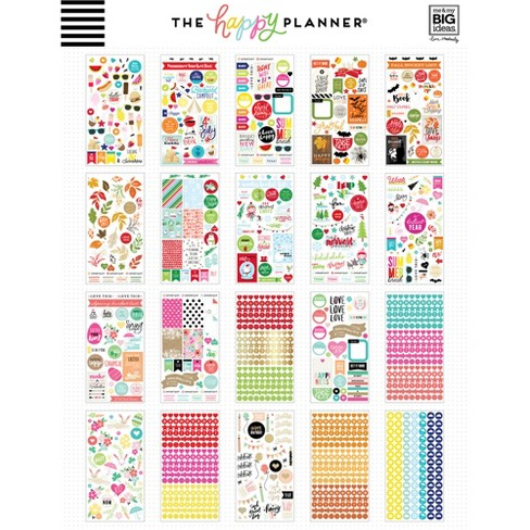 Scrapbook Stickers Multicolored The Happy Planner Target
