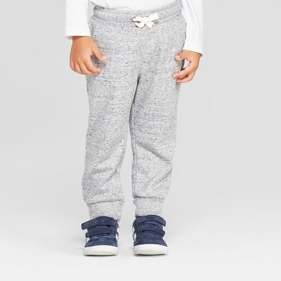Toddler Boys' Cozy Back Pull-On Jogger Pants - Cat & Jack™ Heather Gray 12M