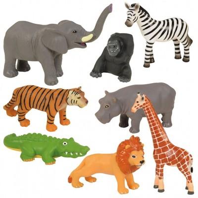 Kaplan Early Learning Company Jungle Animal Set  - Set of 8