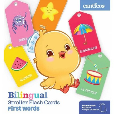Bilingual Stroller Flash Cards: First Words - by  Susie Jaramillo (Board Book)