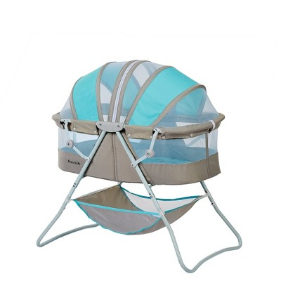 Dream On Me Karley Bassinet - Blue/Gray