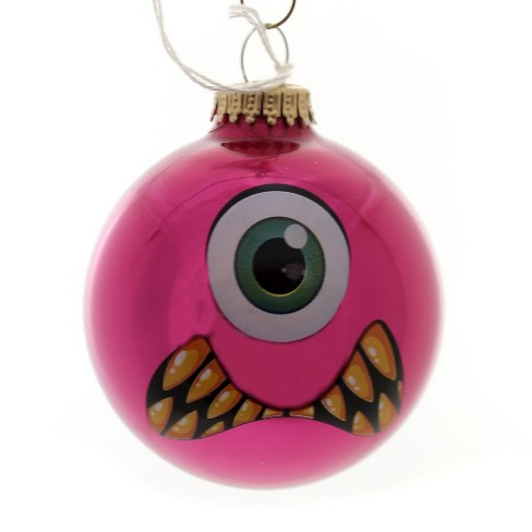 "Holiday Ornaments 3.25"" Monster Faces Ball Ornament Halloween  -  Tree Ornaments - image 1 of 1"