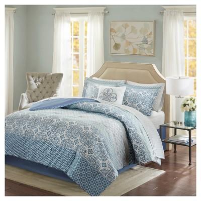Blue Sasha Complete Bed & Sheet Set Full