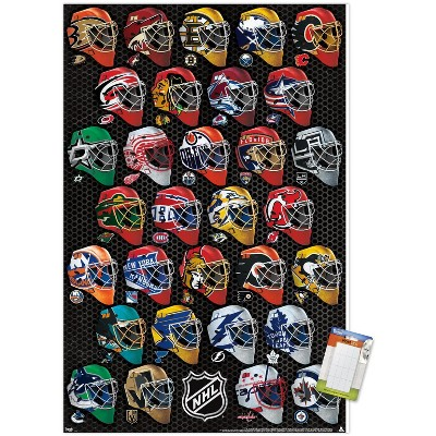 Trends International NHL League - Masks 17 Unframed Wall Poster Prints