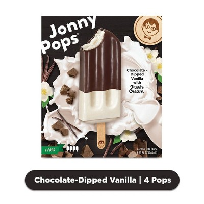 JonnyPops Chocolate-Dipped Vanilla with Fresh Cream Frozen Pops  - 4ct