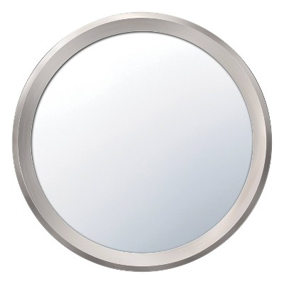 Command Plastic Bath Makeup Mirror Satin Nickel