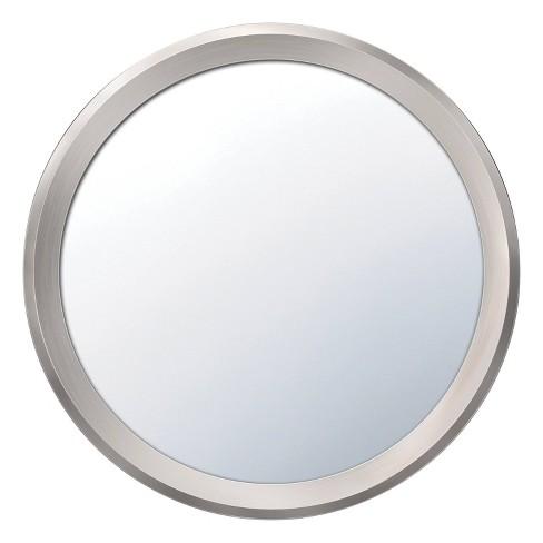 Command Plastic Bath Makeup Mirror Satin Nickel - image 1 of 4