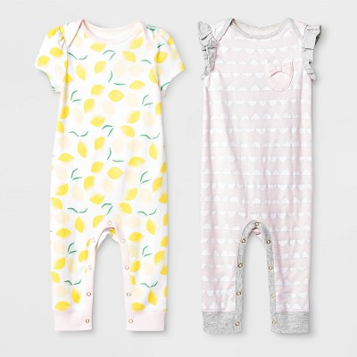 Baby Girls' Oh Honeybee Short Sleeve Coverall Set - Cloud Island™ Pink 0-3M