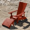 Manhattan Beach Adirondack Chair with Ottoman Rustic Red - highwood - image 2 of 4