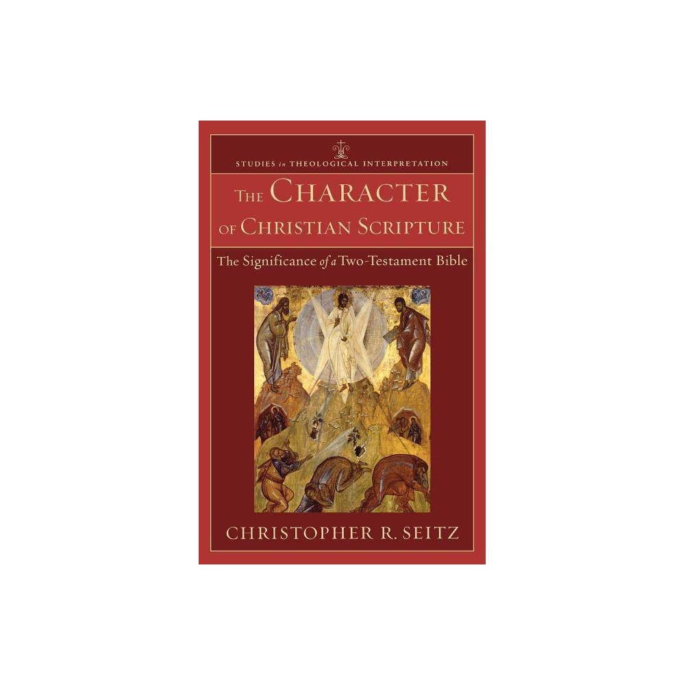 The Character Of Christian Scripture Studies In Theological Interpretation By Christopher R Seitz Paperback