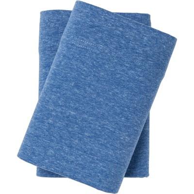 Jersey Pillowcase Set (Standard)Heather Blue - Room Essentials™
