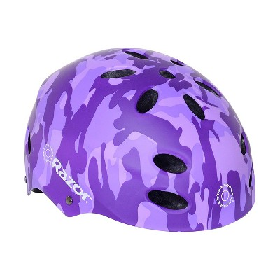 Razor 97868 V-17 Youth Kids Safety Multi Sport Bicycle Helmet For Children 8-14 with 17 Cooling Vents, Adjustable Strap, and Padding, Purple