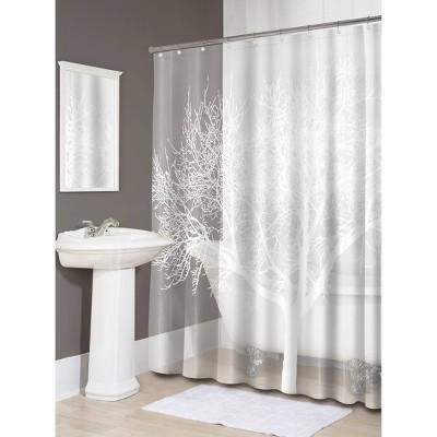 Tree EVA Shower Curtain - Pearl