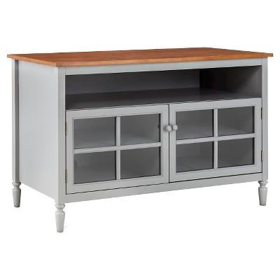 Isabella Glass Door with Open Shelf TV Stand 47  Gray - Blu Dot
