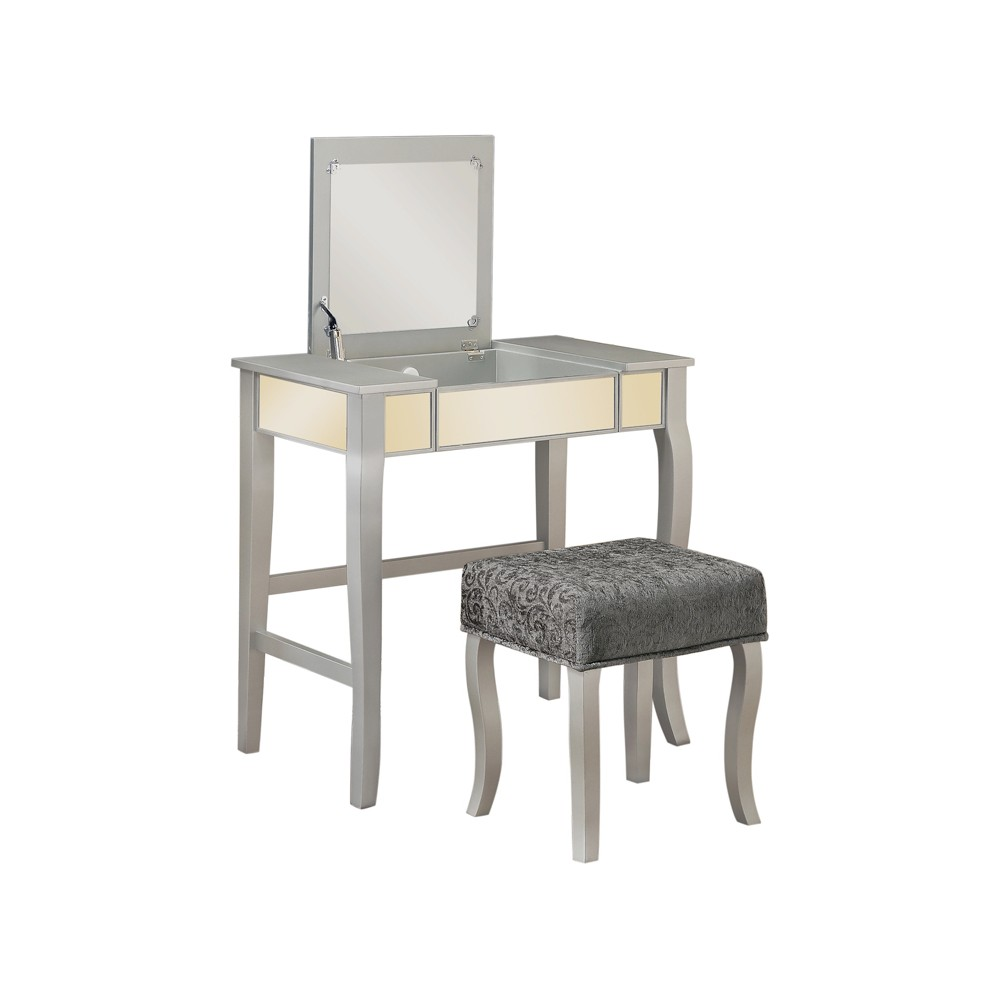 Harper Vanity Set Silver - Linon Home Decor, Light Grey