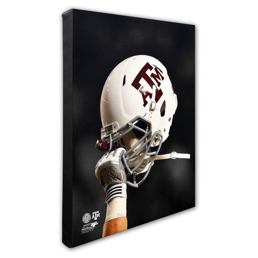 Texas A&m Aggies Helmet Canvas Wall Art - 16x20 inches