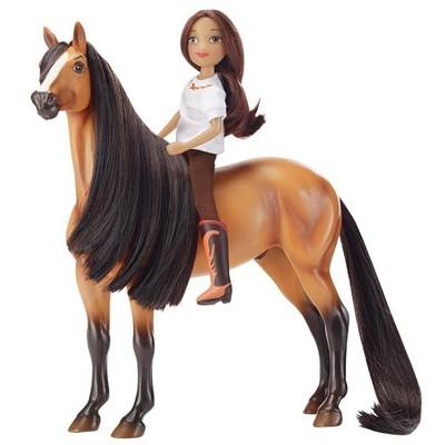 Breyer Animal Creations Breyer 1:12 Classics Spirit Riding Free Spirit & Lucky Model Horse Set